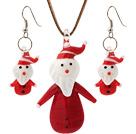 陶瓷圣诞老人项链 耳环 套链