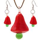 陶瓷圣诞树项链 耳环 套链