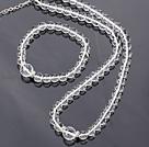 天然白水晶手链 项链 套链 长度可调节