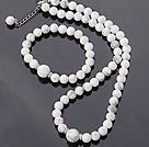 白松石手链 项链 套链 长度可调节 圆珠款