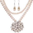 天然白色珍珠项链 耳环 套链 配白珍珠吊坠