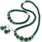 A级绿玛瑙项链 手链 耳环 套链 配磁力扣