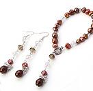 珍珠水晶手链 耳环 套链