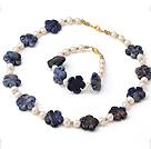 天然白色珍珠 青金石项链 手链 套链