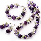 珍珠 水晶 橄榄石 玛瑙项链 手链 耳环
