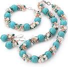 珍珠 水晶 松石项链 手链 耳环