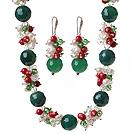 珍珠 水晶 血石 玛瑙项链 耳环 套链
