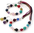 多色宝石项链 手链 耳环 套链