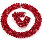 红色人造水晶项链 手链 套链