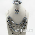 水晶贝壳珠套链