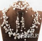 白珍珠满天星新娘饰品套装