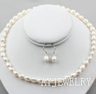 白色巴洛克珍珠套链
