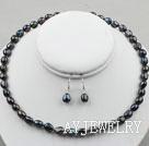 黑色巴洛克珍珠套链