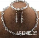 灰色水晶套链