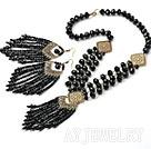 黑水晶套链