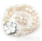 白色巴洛克珍珠戒指套装
