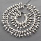 白珍珠水晶套链