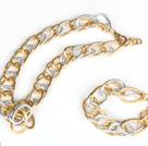 镀金铝链套链(项链配手链)