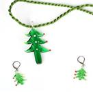 圣诞树套装 项链配耳环