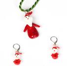 圣诞老人套装 项链配耳环