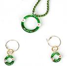 圣诞套装 项链配耳环