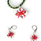 圣诞礼物套装 项链配耳环