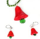 可爱圣诞树套装 项链配耳环