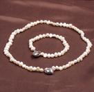 6-7mm白珍珠套链