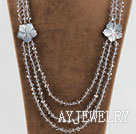 水晶贝壳花项链