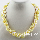珍珠柠檬石项链