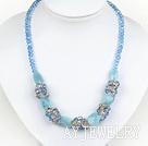 水晶海蓝宝项链