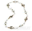 珍珠水晶项链毛衣链