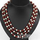 珍珠红玛瑙项链