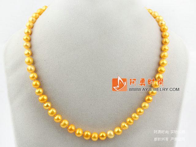 黄色珍珠项链