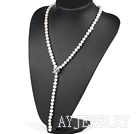 天然白色珍珠项链毛衣链