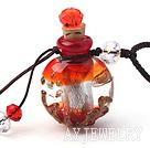 琉璃香水瓶项链(颜色随机)吊坠款