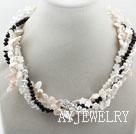 牙齿珍珠水晶贝壳项链
