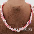 珍珠贝壳玻璃珠项链