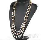 珍珠海贝珠项链毛衣链