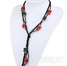 黑珍珠珊瑚项链毛衣链