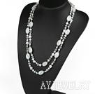 珍珠琉璃水晶项链毛衣链
