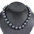 16mm黑色海贝珠项链