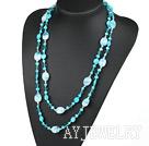 珍珠水晶琉璃项链毛衣链