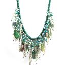 绿色系水晶玛瑙礼服项链