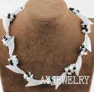 珍珠水晶白玉项链