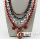 珍珠水晶玛瑙项链