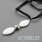 珍珠白瓷石项链