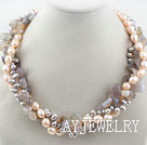 珍珠灰玛瑙项链