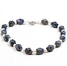 珍珠蓝纹石项链