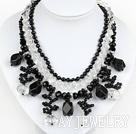 白水晶黑玛瑙项链